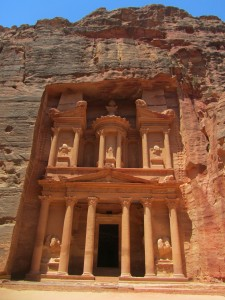 The sight as you exit the Siq - the Treasury