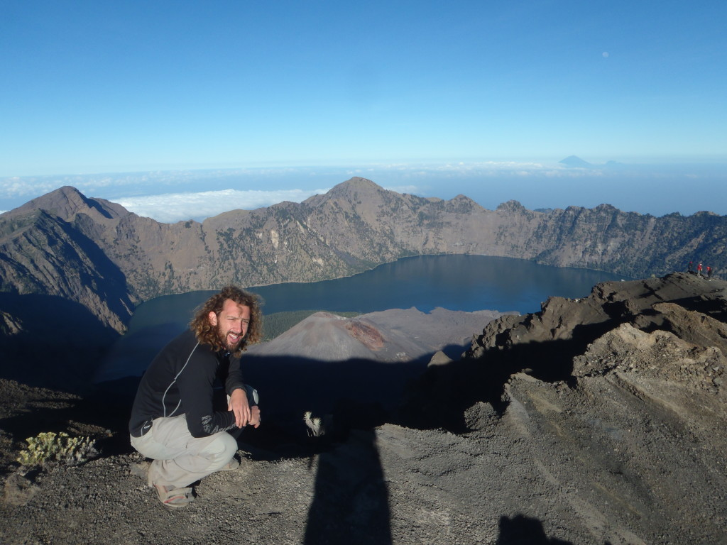 The view from atop Mt Rinjani