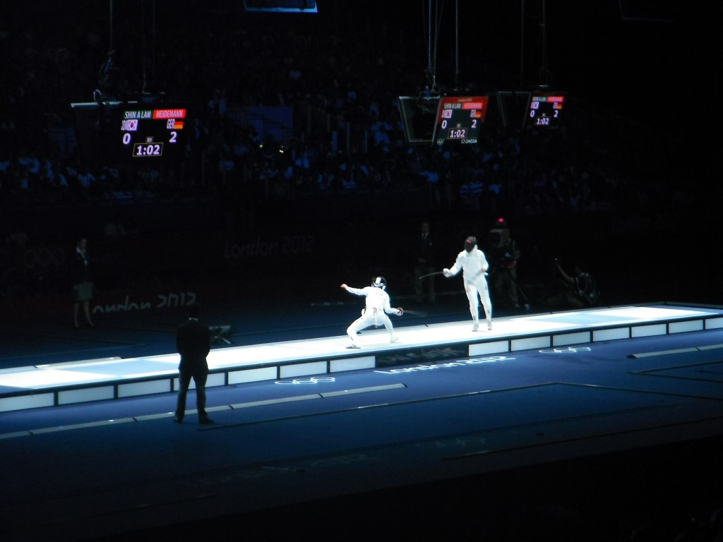 Making my Olympic debut at the fencing!