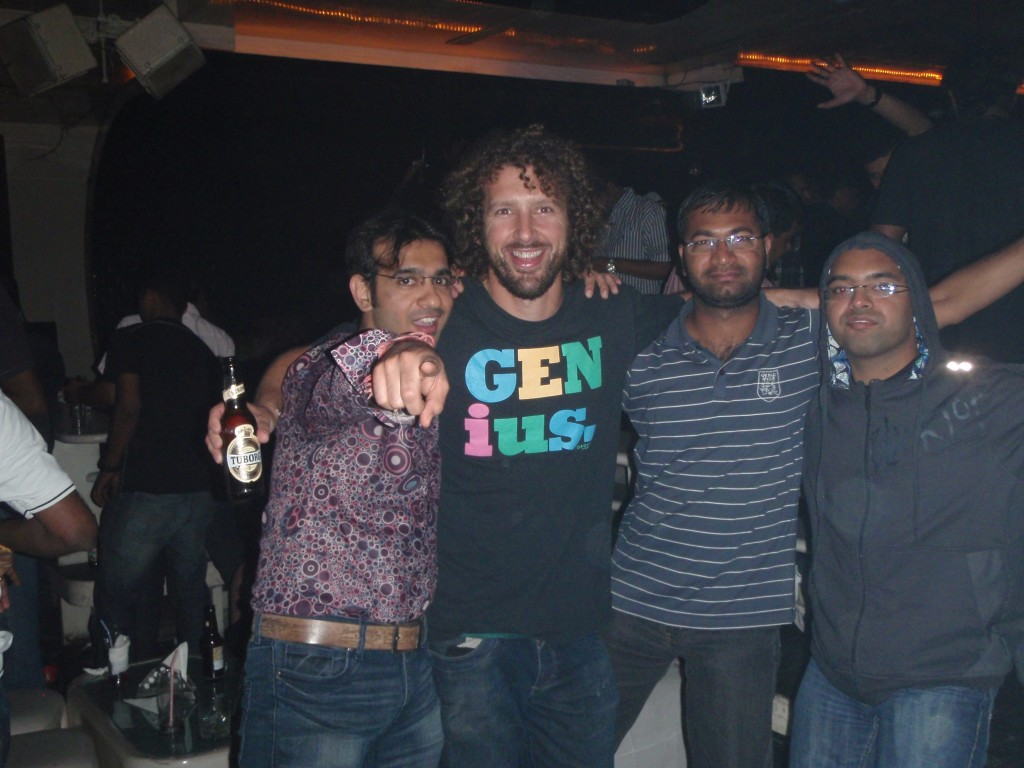 Out with Ravi and friends in Bangalore