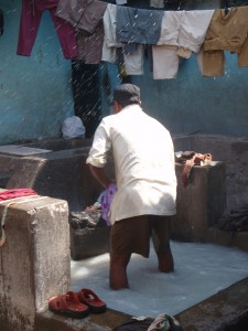 Hard at work in the Dhobi Ghat