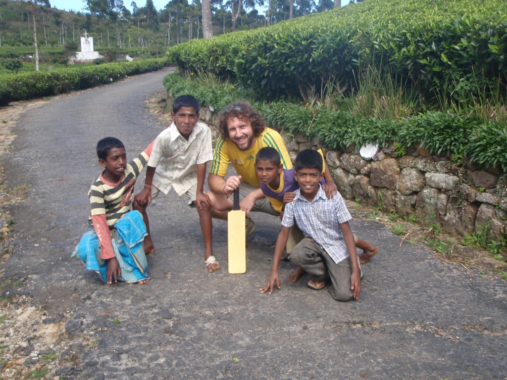 Fantastic game of cricket with the kids