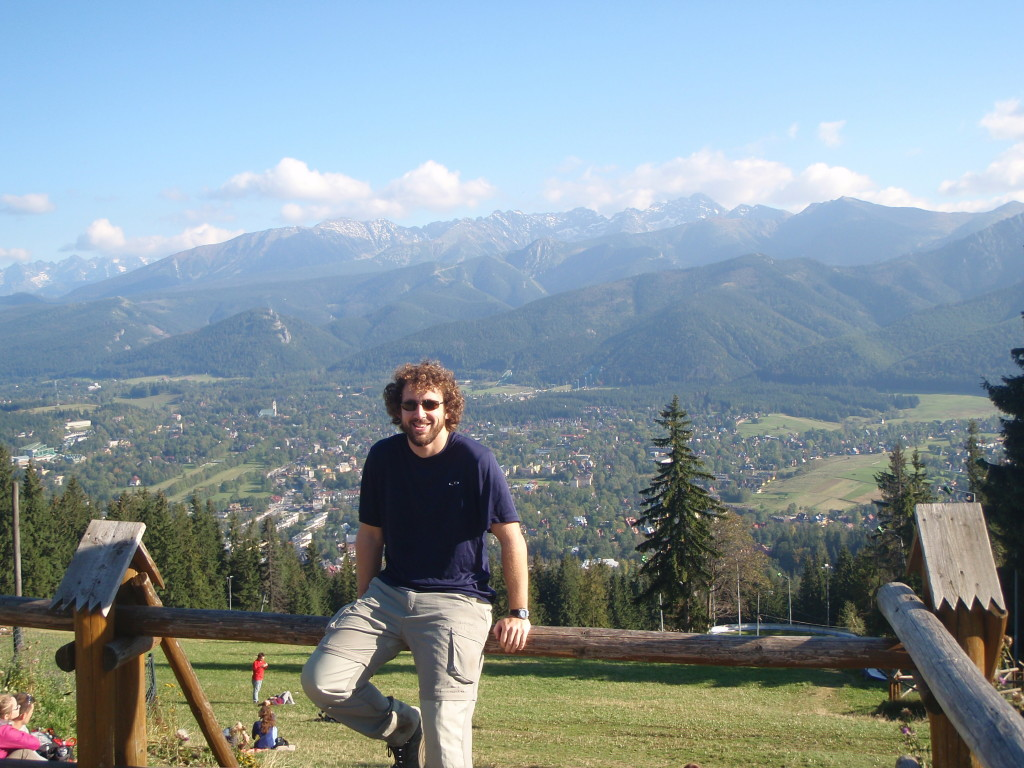 Atop the viewpoint with Zakopane in the background