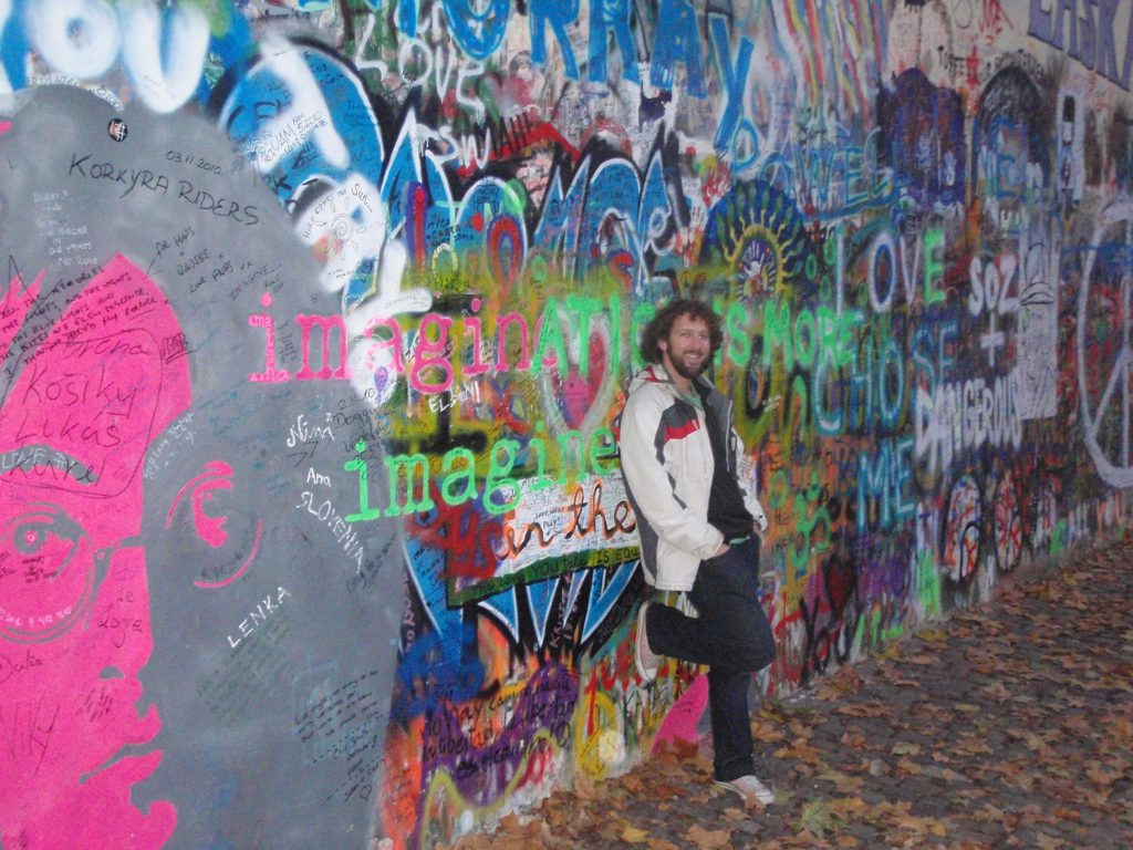 The beautiful John Lennon wall