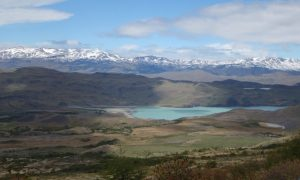 Trekking in the Torres del Paine National Park in the Chilean Patagonia