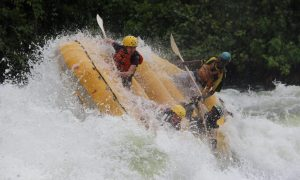 White water rafting in Jinja, Uganda