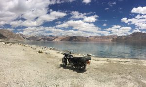 The rather terrifying bike ride to Pangong Lake