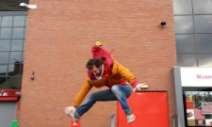 Jumping round Anfield