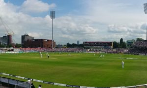 Watching Test Cricket at Old Trafford