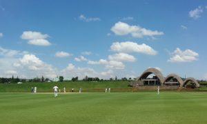 Watching cricket in Rwanda